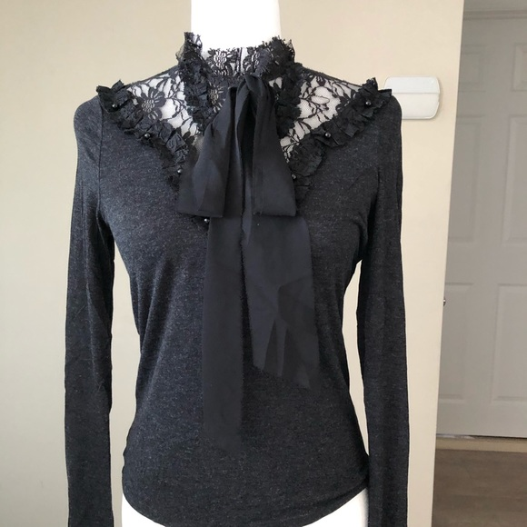 ***SOLD***Gorgeous lace bow top | Zara